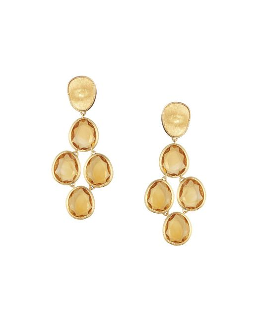 Marco Bicego | Metallic 18k Yellow Gold Lunaria Citrine Drop Earrings | Lyst