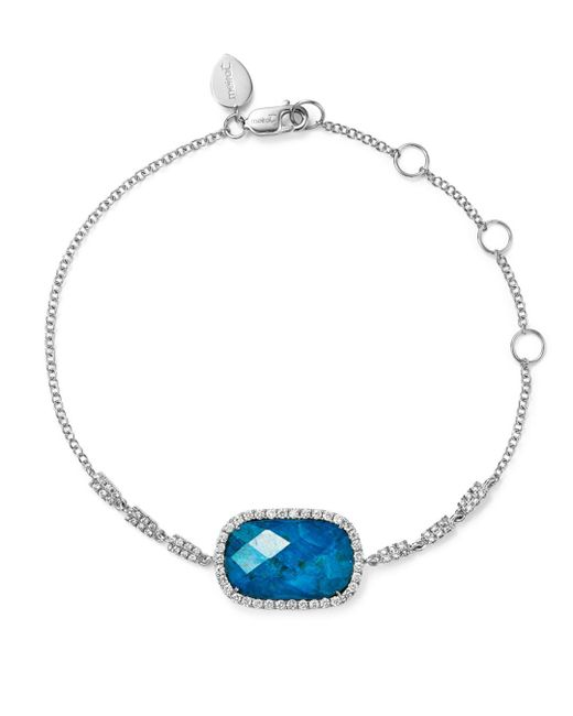 Meira T - Blue 14k White Gold Chrysocolla Doublet And Diamond Bracelet - Lyst