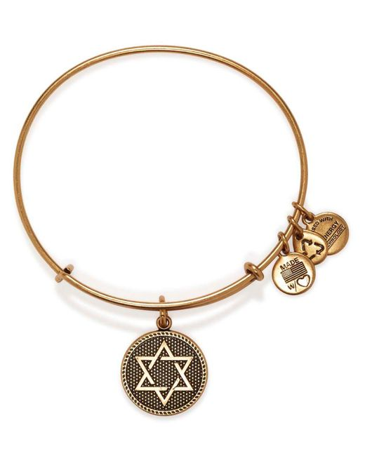 ALEX AND ANI | Metallic Star Of David Iii Expandable Wire Bangle | Lyst