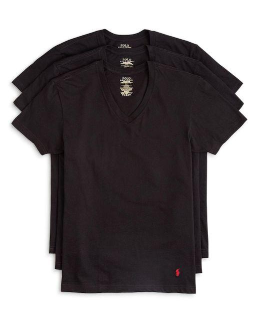 Polo Ralph Lauren | Black 3-pack V-neck T-shirts, White for Men | Lyst