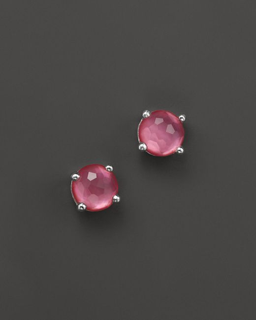 Ippolita | Pink Rock Candy Mini Stud Earrings In Peony | Lyst