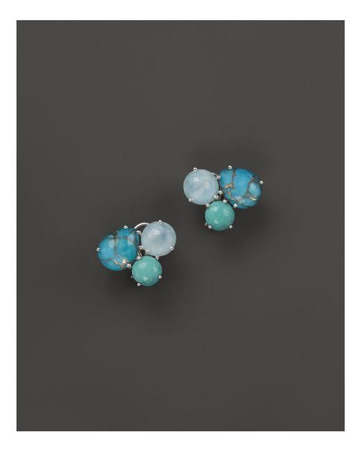 Ippolita | Sterling Silver Rock Candy® Cluster Stud Earrings In Blue Multi | Lyst