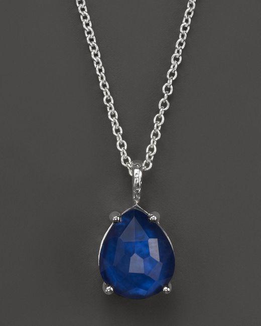 "Ippolita | Blue Wonderland Pear Shape Necklace In Midnight, 16-18"" | Lyst"
