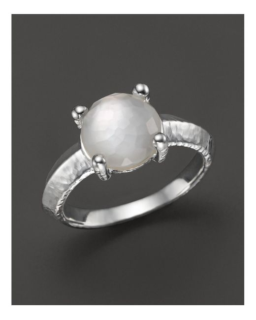 Ippolita   White Rock Candy Single Stone Prong Knife Edge Ring In Mother-of-pearl   Lyst