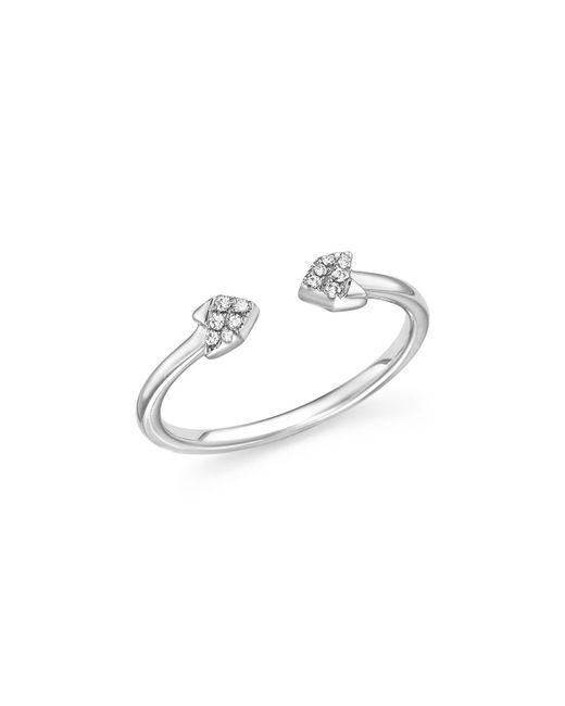 Dana Rebecca | 14k White Gold Diamond Arrow Ring | Lyst