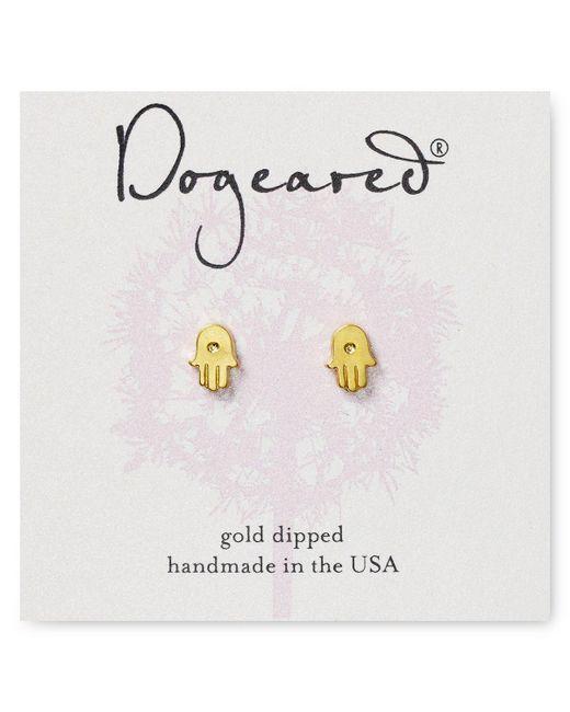 Dogeared | Metallic Hamsa Stud Earrings | Lyst