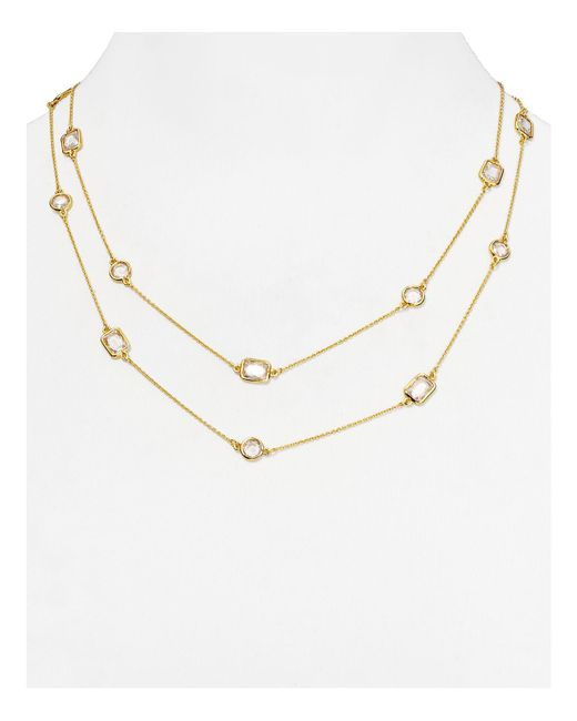 kate spade new york | Metallic Opening Night Wrap Necklace, 40"