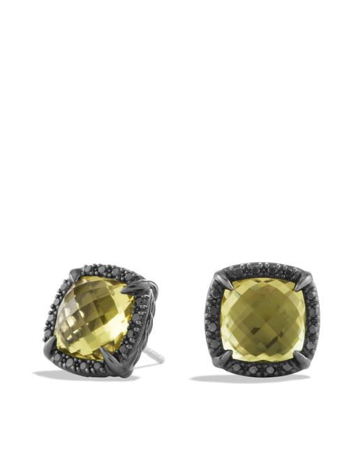 David Yurman | Châtelaine Earrings With Lemon Citrine And Black Diamonds | Lyst