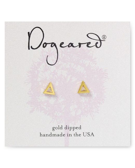 Dogeared | Metallic Open Triangle Stud Earrings | Lyst