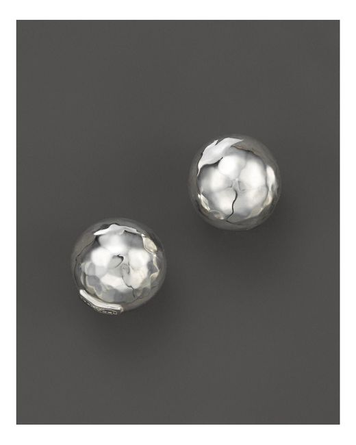 Ippolita | Metallic Glamazon® Sterling Silver Hammered Ball Stud Earrings | Lyst