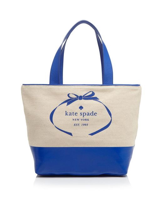 Kate Spade | Blue Tote - Heritage Spade Logo | Lyst