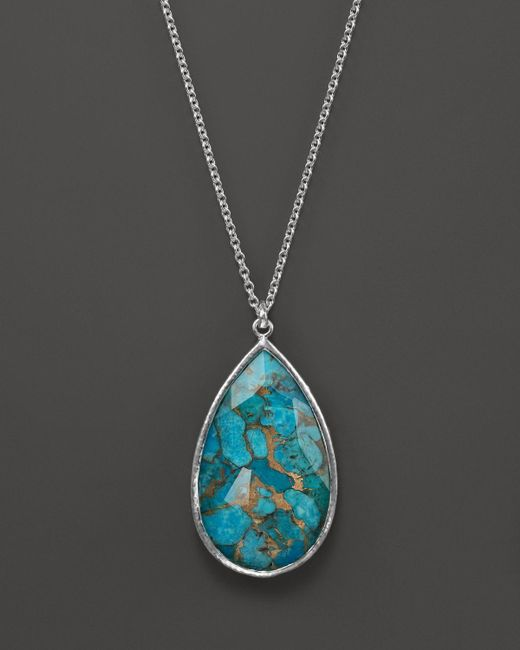 """Ippolita   Blue Rock Candy Sterling Silver Elongated Drop Pendant Necklace, 24""""   Lyst"""