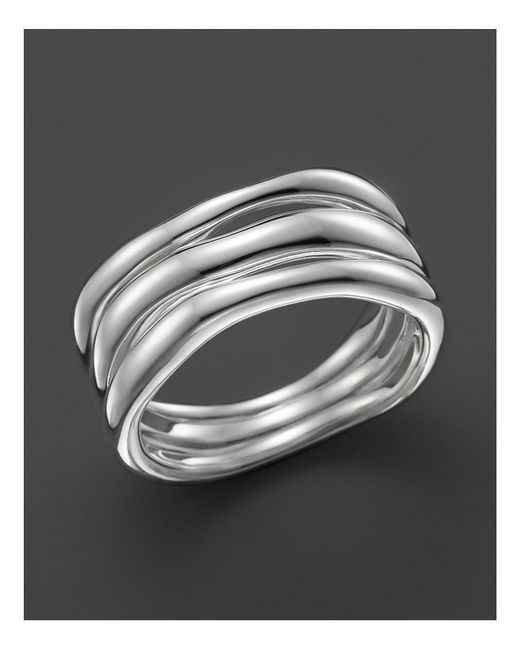 Ippolita | Metallic Glamazon Sterling Silver Triple-band Squiggle Ring | Lyst