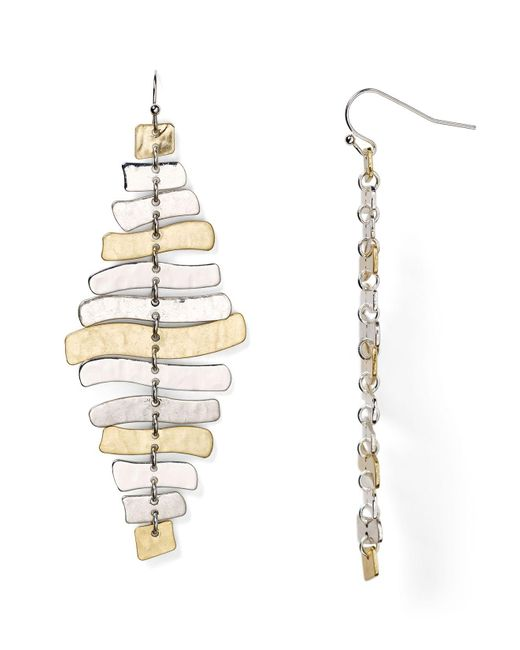 Robert Lee Morris | Metallic Wishbone Chandelier Earrings | Lyst