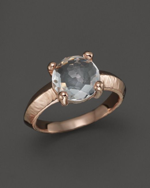 Ippolita | White Rock Candy Rose Single Stone Knife-edge Ring | Lyst