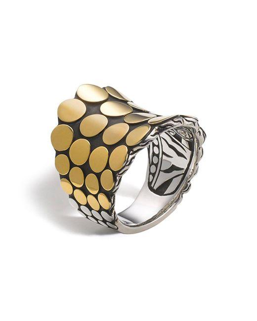 John Hardy | Metallic Dot Gold & Silver Saddle Ring | Lyst