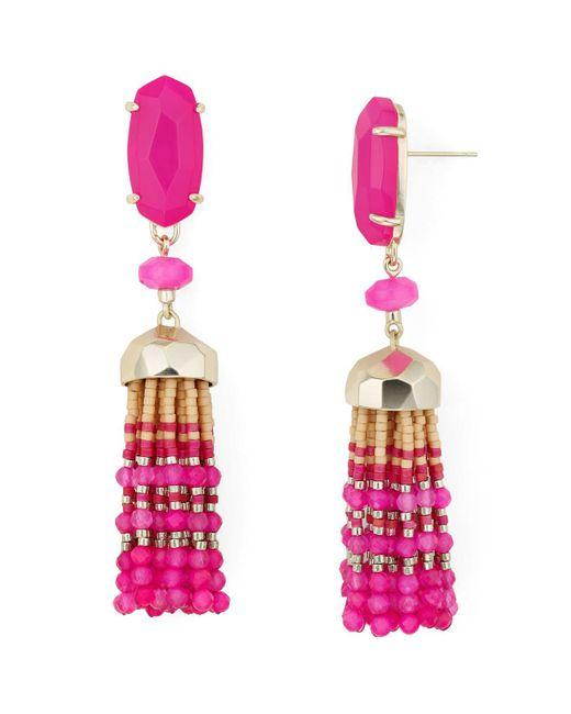 Kendra Scott - Pink Dove Tassel Drop Earrings - Lyst
