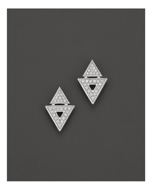 Dana Rebecca   14k White Gold And Diamond Jemma Morgan Stud Earrings   Lyst
