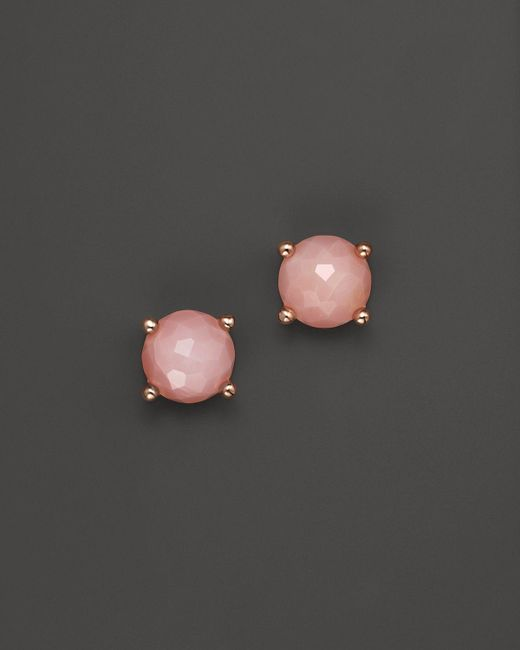 Ippolita | Rock Candy® Rosé Mini Stud Earrings In Pink Opal | Lyst
