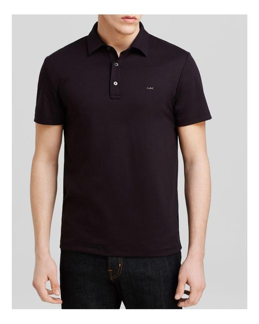 Michael Kors | Black Sleek Slim Fit Polo Shirt for Men | Lyst