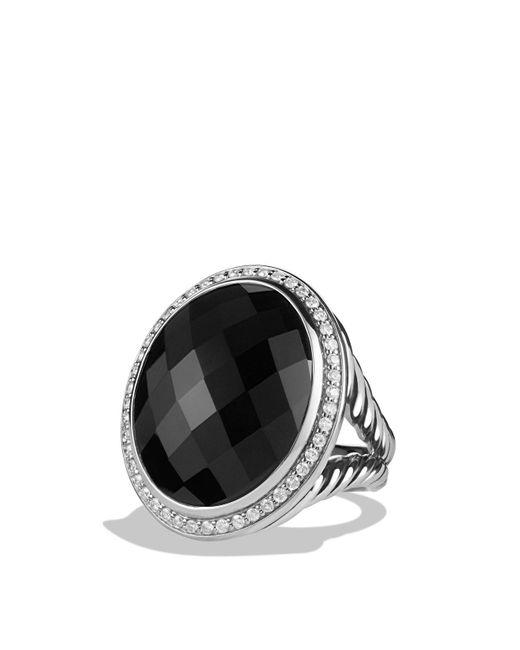 David Yurman | Oval Ring With Black Onyx And Diamonds | Lyst