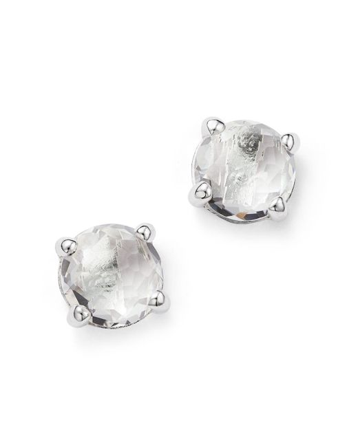 Ippolita | Metallic Rock Candy Sterling Silver Mini Stud Earrings With Clear Quartz | Lyst