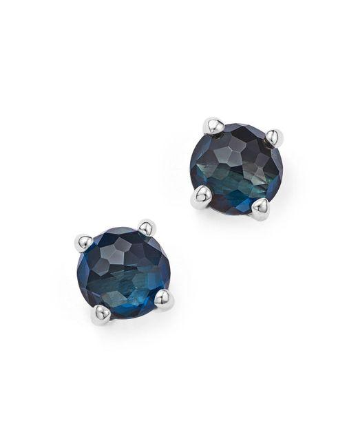 Ippolita | Metallic Rock Candy Sterling Silver Mini Stud Earrings With London Blue Topaz | Lyst