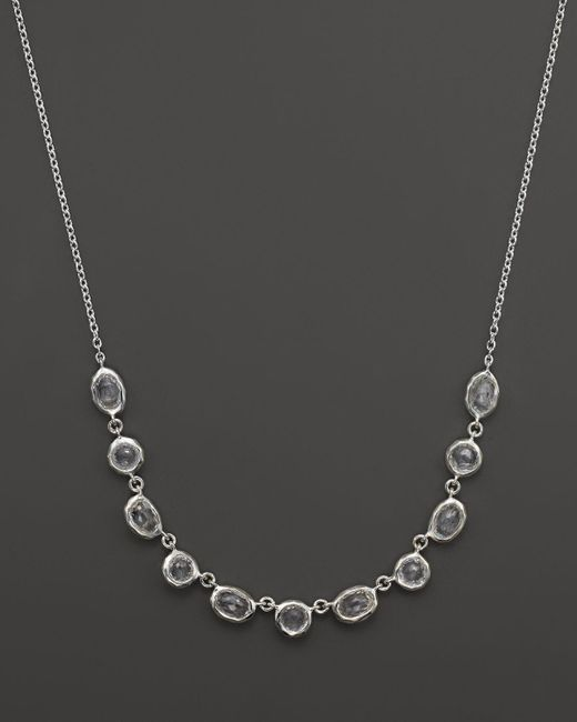 "Ippolita | Metallic Rock Candy Sterling Silver Multi Shape Stone Necklace, 15"" | Lyst"