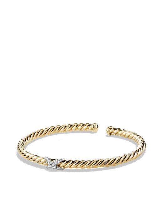 David Yurman | Metallic X Bracelet With Diamonds In 18k Gold | Lyst