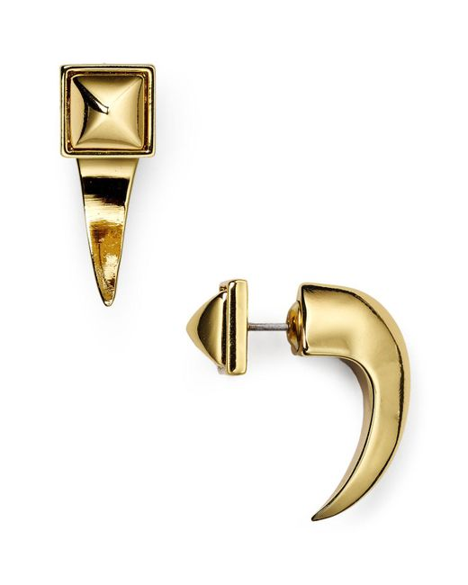 Rebecca Minkoff | Metallic Front-back Earrings | Lyst