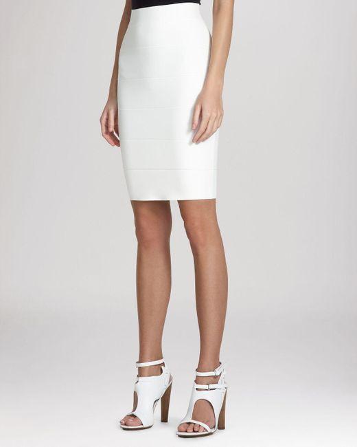 BCBGMAXAZRIA | White Skirt - Alexa Knit | Lyst