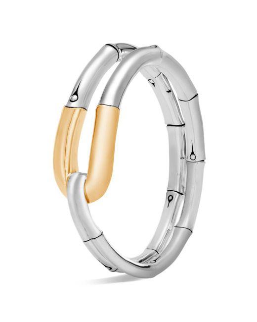 John Hardy - Metallic 18k Yellow Gold And Sterling Silver Bamboo Flex Cuff - Lyst