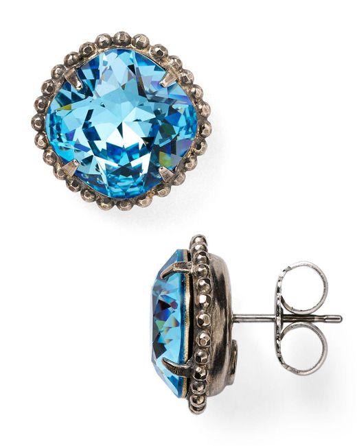 Sorrelli   Blue Stud Earrings   Lyst