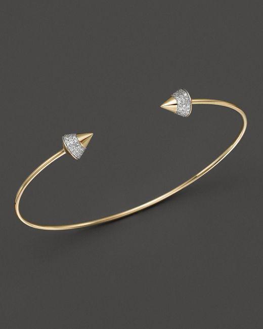 KC Designs | Metallic Diamond Studded Bracelet In 14k Yellow Gold | Lyst
