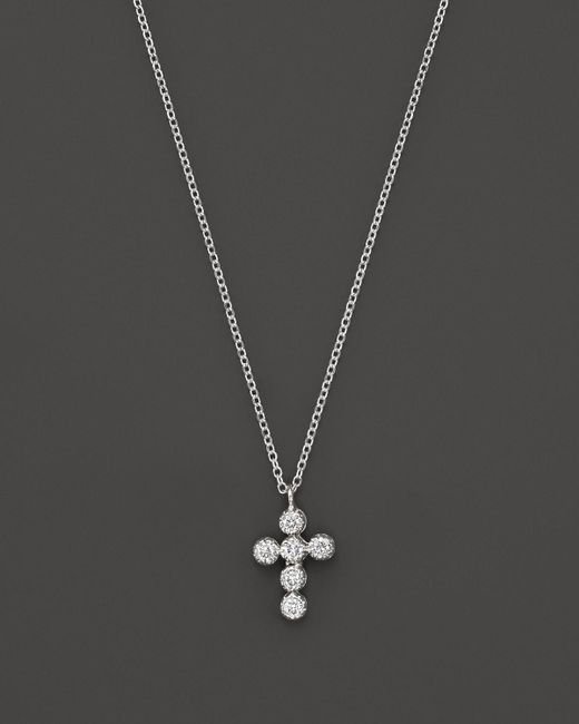 KC Designs | Diamond Cross Pendant Necklace In 14k White Gold, 16"