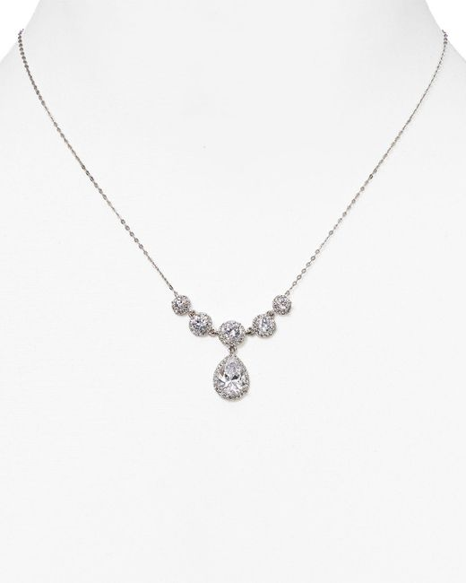 "Nadri | Metallic Teardrop Necklace, 17.5"" | Lyst"