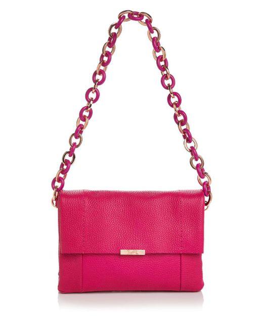 Ted Baker - Pink Ipomoea Leather Shoulder Bag - Lyst