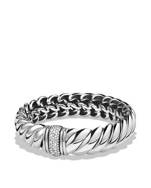 David Yurman | Metallic Hampton Cable Bracelet With Diamonds | Lyst
