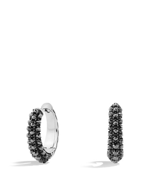 David Yurman | Metallic Osetra Hoop Earrings With Hematine | Lyst