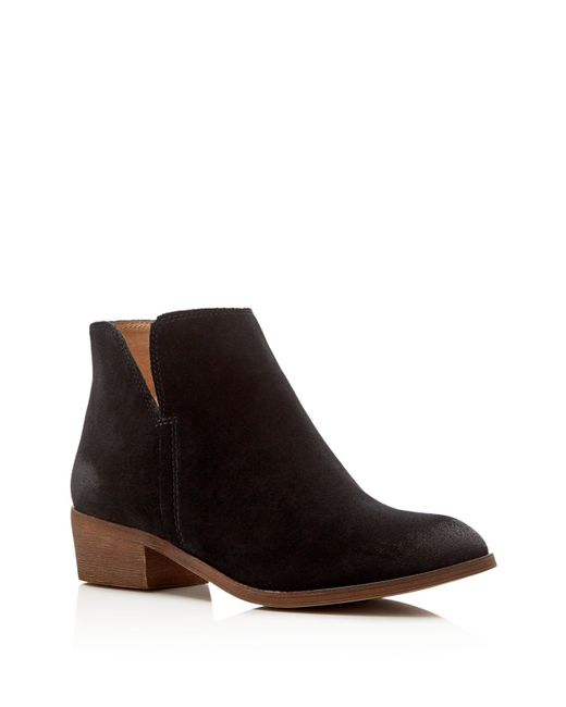 Splendid | Black Hamptyn Suede Booties | Lyst