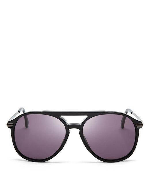 Wildfox | Black Baroness Aviator Sunglasses, 58mm | Lyst