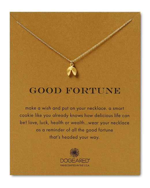 Dogeared | Metallic Good Fortune Necklace, 18"