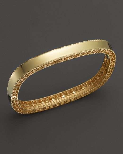 Roberto Coin | Metallic 18k Yellow Gold Princess Bangle | Lyst