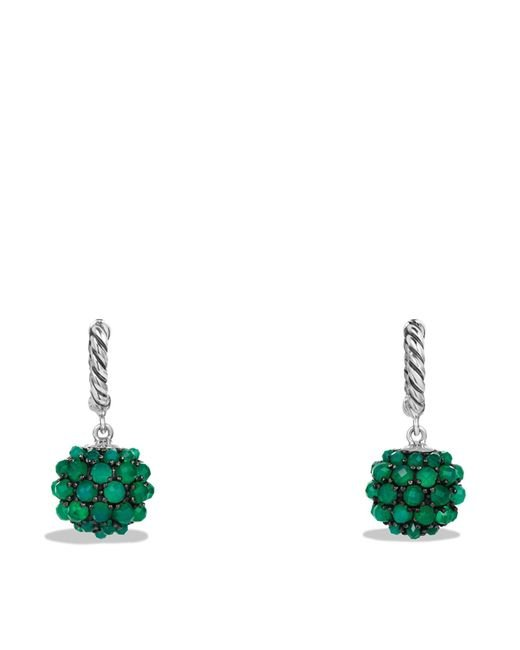 David Yurman | Osetra Earrings With Green Onyx | Lyst