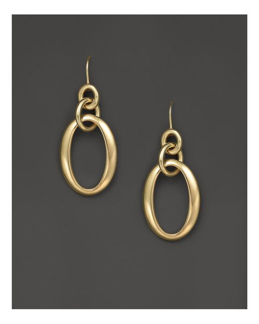 Ippolita | Metallic 18k Gold Glamazon Short Oval Link Earrings | Lyst