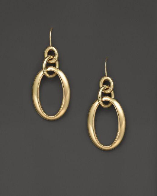Ippolita | Metallic 18k Gold Glamazon Short Oval Link Earrings | Lyst
