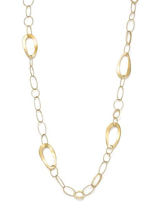 "Ippolita | Metallic 18k Gold Glamazon All Mixed Link Necklace, 34.5"" | Lyst"