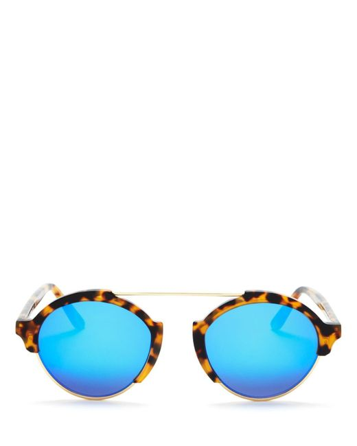 Illesteva | Brown Milan Iii Mirrored Sunglasses, 54mm | Lyst