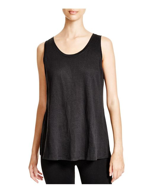 Eileen Fisher | Black System Scoop Neck Long Tank | Lyst