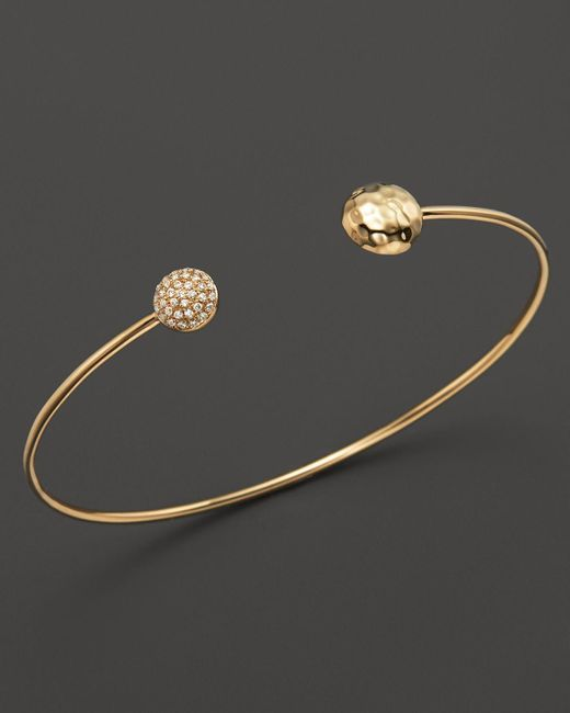 KC Designs | Metallic Diamond Double Circle Bracelet In 14k Yellow Gold - 100% Exclusive | Lyst